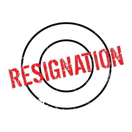 Resignation rubber stamp