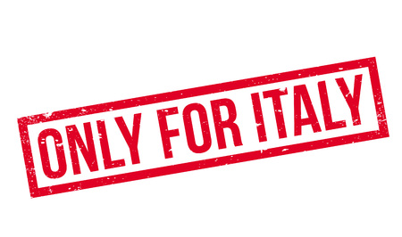 Only For Italy rubber stamp Иллюстрация