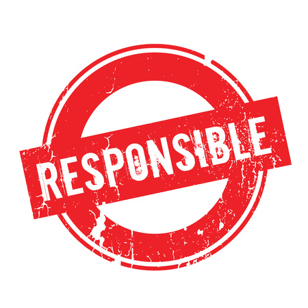 Responsible rubber stamp Illustration