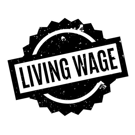 Living Wage rubber stamp Stock Photo
