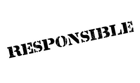 decency: Responsible rubber stamp Illustration