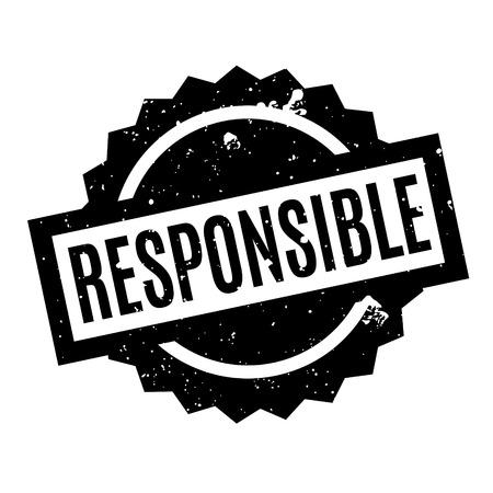 Responsible rubber stamp Ilustração
