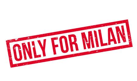 edicto: Sólo para el sello de goma de Milán Vectores