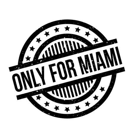 purely: Only For Miami rubber stamp Illustration