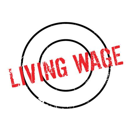 Living Wage rubber stamp Illustration