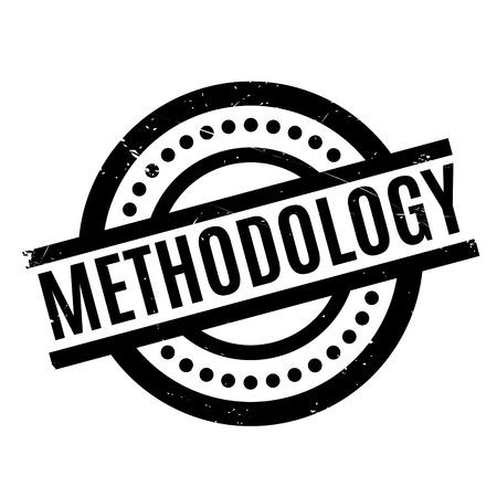 Methodology rubber stamp Ilustração