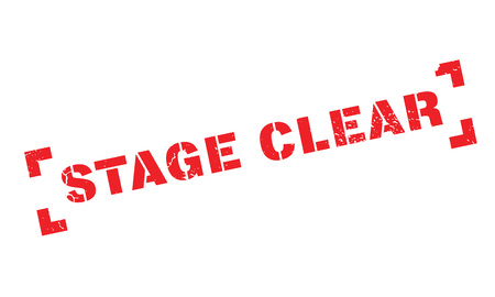 Stage Clear rubber stamp. Grunge design with dust scratches. Effects can be easily removed for a clean, crisp look. Color is easily changed.