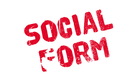 sociable: Social Form rubber stamp. Grunge design with dust scratches. Effects can be easily removed for a clean, crisp look. Color is easily changed.