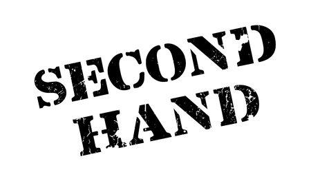 handful: Second Hand rubber stamp. Grunge design with dust scratches. Effects can be easily removed for a clean, crisp look. Color is easily changed. Illustration