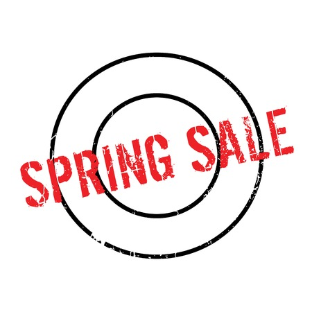 Spring Sale rubber stamp. Grunge design with dust scratches. Effects can be easily removed for a clean, crisp look. Color is easily changed. Illustration