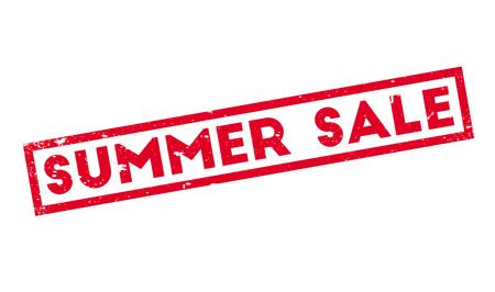 summer solstice: Summer Sale rubber stamp Illustration