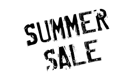 barter: Summer Sale rubber stamp Illustration