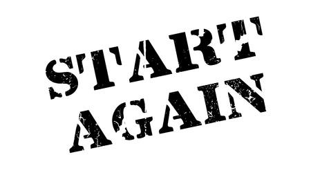 Start Again rubber stamp Иллюстрация