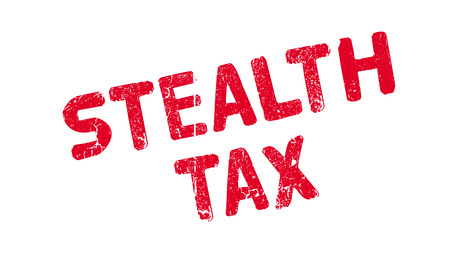 Stealth Tax rubber stamp Illustration
