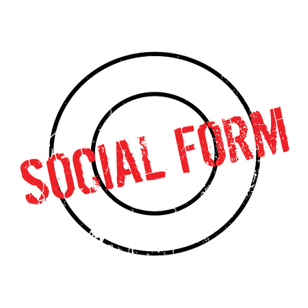 Social Form rubber stamp