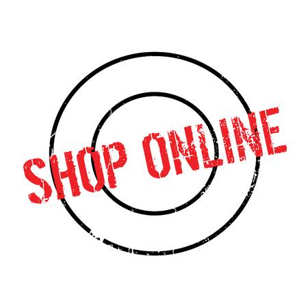 Shop Online rubber stamp Illustration