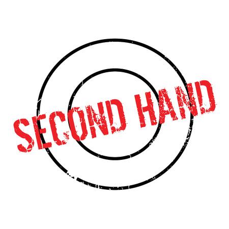 Second Hand rubber stamp Illustration