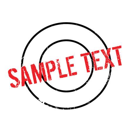 Sample Text rubber stamp Ilustração