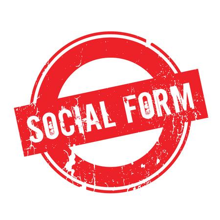 societal: Social Form rubber stamp