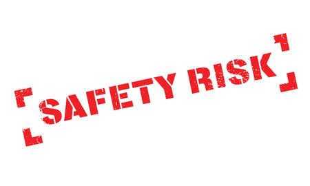 Safety Risk rubber stamp Vektoros illusztráció