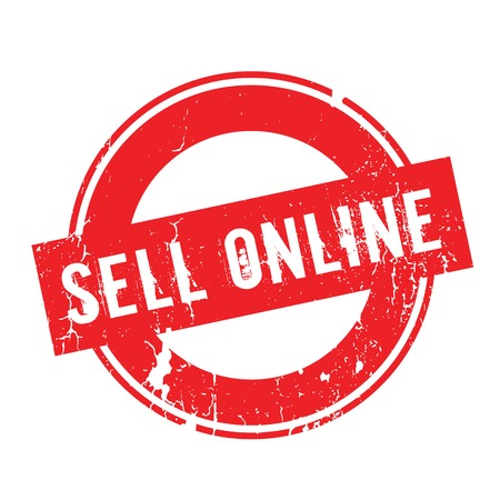 sell: Sell Online rubber stamp