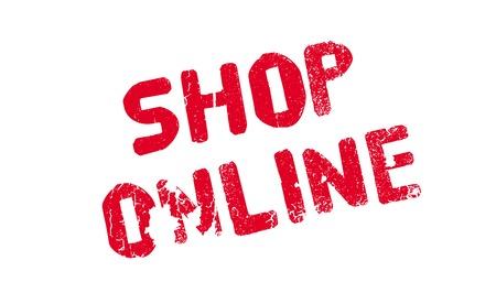 operative: Shop Online rubber stamp Illustration