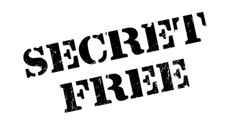 Secret Free rubber stamp