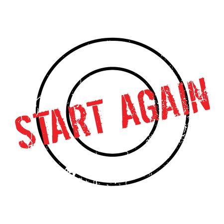 Start Again rubber stamp Illustration