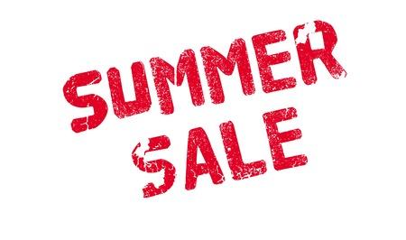 Summer Sale rubber stamp Illustration