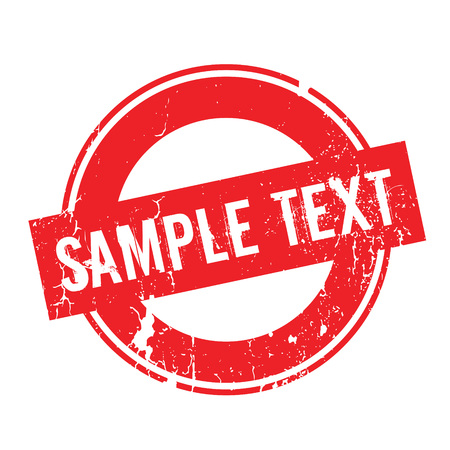 Sample Text rubber stamp Çizim