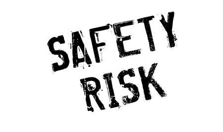 alarming: Safety Risk rubber stamp
