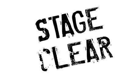 Stage Clear rubber stamp