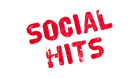 Social Hits rubber stamp