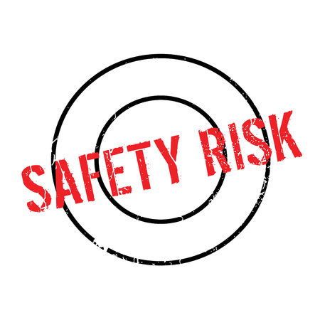Safety Risk rubber stamp