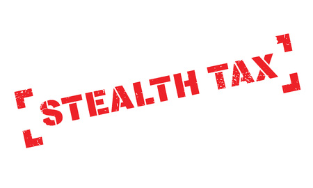 stealth: Stealth Tax rubber stamp Illustration