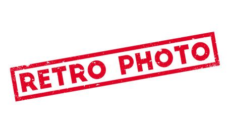 evocative: Retro Photo rubber stamp