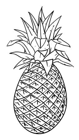 Cartoon image of pineapple Stock Vector - 77706326