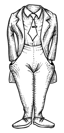 Cartoon image of headless man
