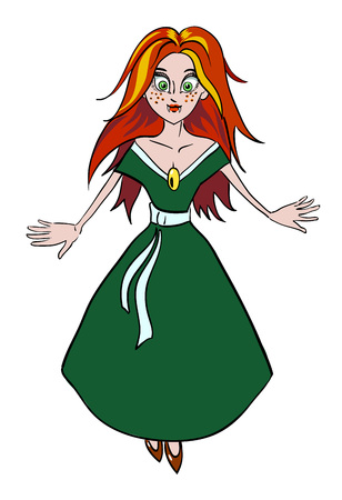 Cartoon image of vampire girl Illustration