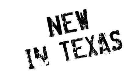 corpus: New In Texas rubber stamp