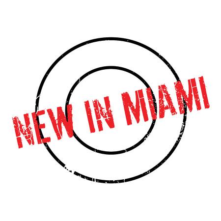 New In Miami rubber stamp Illustration