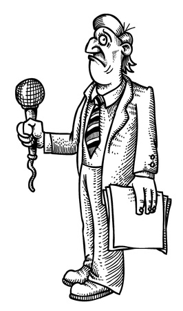 dwell: Cartoon image of stressed reporter