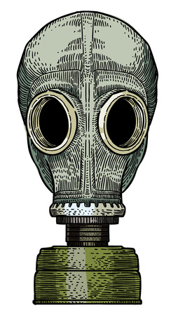 Cartoon image of gas mask