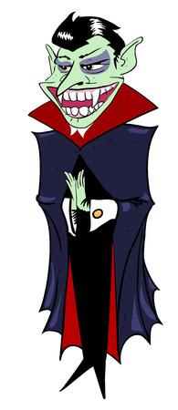 Cartoon image of grinning vampire Illustration