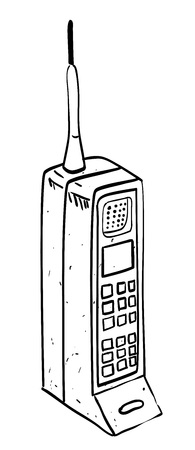 Cartoon image of mobile phone