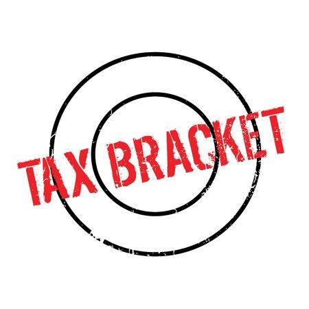 Tax Bracket rubber stamp Illustration