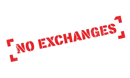 interdependence: No Exchanges rubber stamp Illustration