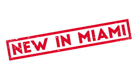 New In Miami rubber stamp Illustration
