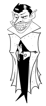 hellion: Cartoon image of grinning vampire Illustration