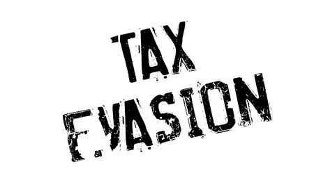 evasion: Tax Evasion rubber stamp